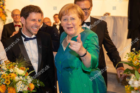 Stock Image of Yuval Sharon, Angela Merkel