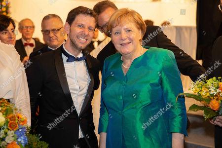 Stock Photo of Yuval Sharon, Angela Merkel