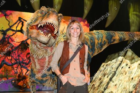 Michaela Strachan with the baby T-REX