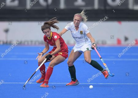 Lucia Jimenez Vicente of Spain and Shelley Jones of South Africa