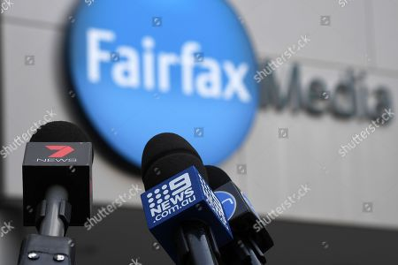 Editorial picture of Fairfax and Nine merger reactions, Sydney, Australia - 26 Jul 2018