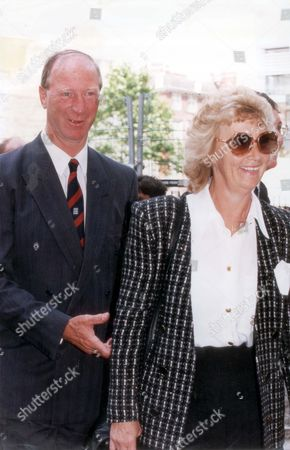 Jack Charlton And Wife Are Pictured Arriving At Bobby Moore's Memorial Service In Westminster Abbey.