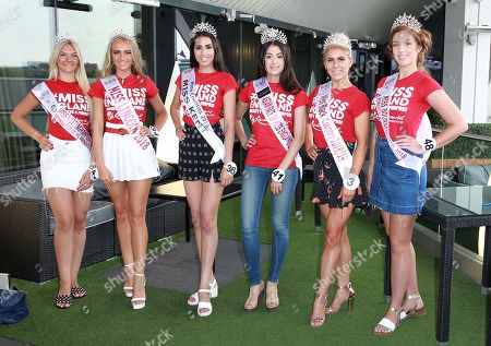 #40 Paige Lily Alexander Miss Nottingham City 2018 #34 Milly Everatt Miss Lincolnshire 2018 #36 Neha Dhull Miss Kent 2018 #41 Priya Bagga Miss Asian Face 2018 #3 Alexandra Darby Miss Black Country 2018 at the Miss England Final part 1. Held at Resorts World Birmingham