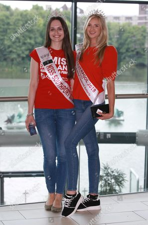 #24 Jennifer Amy Leigh Miss Southport 2018, 1 Abigail Foster Miss Liverpool 2018 arriving at the Miss England Finals part 1