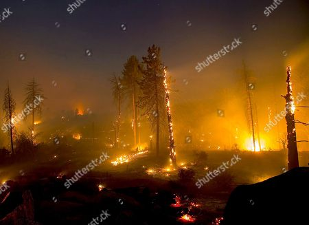 The Cranston Fire continues to burn early into Thursday morning July 26, 2018 in Idyllwild