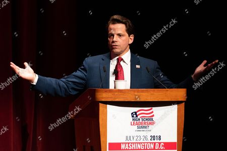 Anthony Scaramucci, Former White House Communications Director, speaking at the Turning Point High School Leadership Summit
