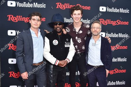 Gus Wenner, Frederick ' Toots Hibbert, Shawn Mendes, and Jason Fine