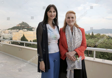 Editorial image of Sarah Ferguson, Duchess of York expresses her support to Greece during a visit in Athens - 25 Jul 2018