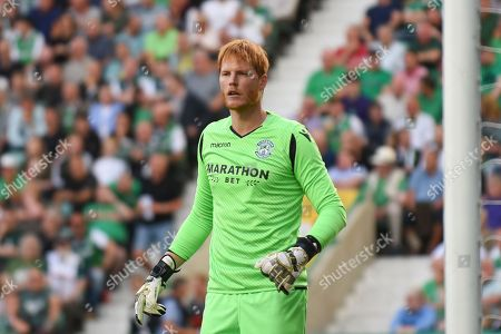 Hibs' new goalkeeper Adam Bogdan during the second qualifying round leg 1 of 2 Europa League match between Hibernian and Asteras Tripolis FC at Easter Road, Edinburgh. Picture by Kevin Murray