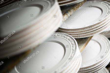 Plates at the Royal Porcelain Factory 'Koenigliche Porzellan-Manufaktur' (KPM) in Berlin, Germany, 26 July 2018. The name Royal Porcelain Factory 'Koenigliche Porzellan-Manufaktur' (KPM) exists since 1763, when King Frederick II of Prussia took over the company from a businessman. Nowadays the company is run by Berlin banker Joerg Woltmann.