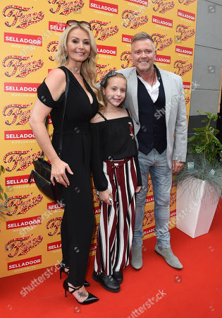 Darren Day and his wife Stephanie Dooley and daughter.