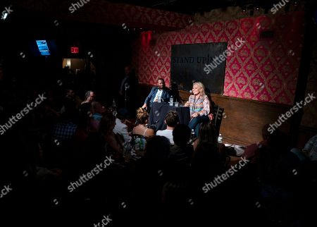 Roseanne Barr, Shmuley Boteach. Roseanne Barr takes part in a special event and podcast taping with Rabbi Shmuley Boteach, left, at Stand Up NY, in New York