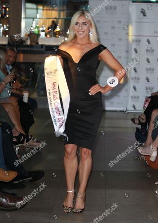 #3 Alexandra Darby Miss Black Country 2018 in the Stages Hair/Top Model round in High Line in little black dresses held in HIGH LINE at the Miss England 2018 Finals part 1. Held at Resorts World in Birmingham