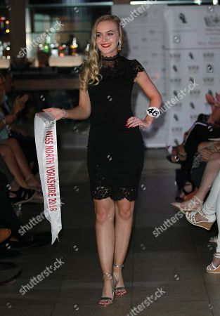 #46 Sophie Anderton Miss North Yorkshire 2018 in the Stages Hair/Top Model round in High Line in little black dresses held in HIGH LINE at the Miss England 2018 Finals part 1. Held at Resorts World in Birmingham
