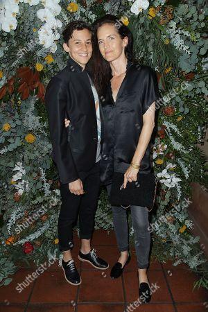 Stock Image of Nina Fiore and Mallette Lamy