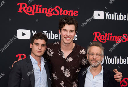 Gus Wenner, Shawn Mendes, Jason Fine. Gus Wenner, left, Shawn Mendes and Jason Fine attend a Rolling Stone magazine relaunch event presented by YouTube Music, in New York