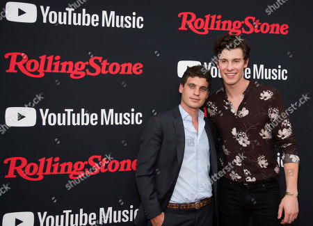 Gus Wenner, Shawn Mendes. Gus Wenner, left, and Shawn Mendes attend a Rolling Stone magazine relaunch event presented by YouTube Music, in New York