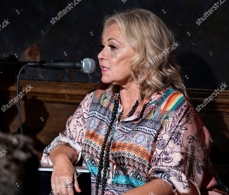 Roseanne Barr takes part in a special event and podcast taping at Stand Up NY, in New York