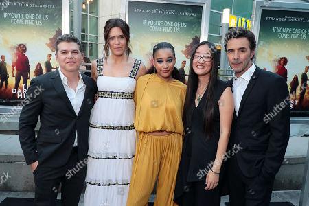 Dan Levine, Producer, Mandy Moore, Amandla Stenberg, Jennifer Yuh, Director, Shawn Levy, Producer,
