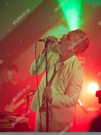Stock Image of Baxter Dury performs at the Caught By The River Stage