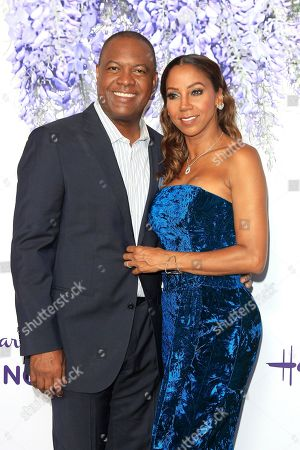 Rodney Peete, Holly Robinson Peete arrive at the 2018 Hallmark Channel Summer TCA party at a private residence in Beverly Hills, California, USA 26 July 2018.