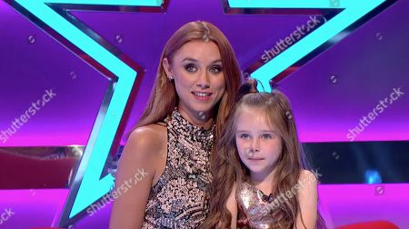 Stock Image of Una Healy and her daughter Aoife Belle Foden.