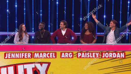 Stock Picture of (Ep 1) Jenny Metcalfe, Marcel Sommerville, James Argent, Paisley Thomas and Jordan Davies.