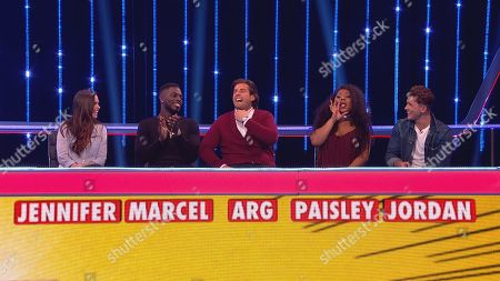Stock Image of (Ep 1) Jenny Metcalfe, Marcel Sommerville, James Argent, Paisley Thomas and Jordan Davies.