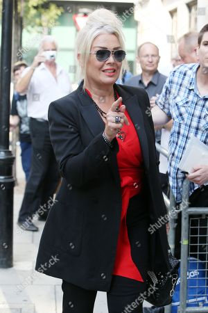 Kim Wilde at the studios of BBC Radio 2