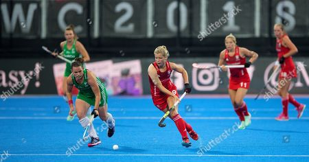 Sophie Bray in action, England v Ireland