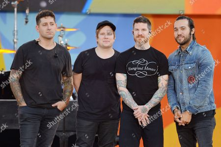 Joe Trohman, Andy Hurley, Patrick Stump and Pete Wentz of Fall Out Boy