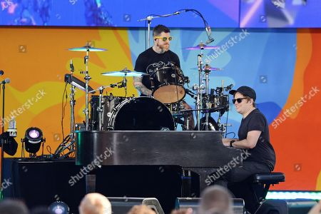 Andy Hurley and Patrick Stump of Fall Out Boy