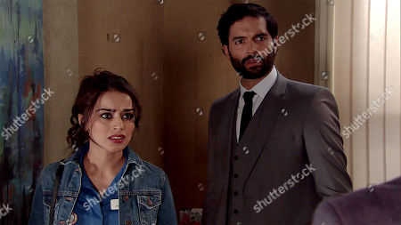 Ep 9526 Monday 6th August 2018 Imran Habeeb, as played by Charlie De Melo, is interrupted by the arrival of his Dad Hassan Habeeb, as played by Kriss Dosanjh. When Imran's Dad reveals he's having a 60th birthday party but Rana isn't invited, Imran's appalled and refuses to attend.