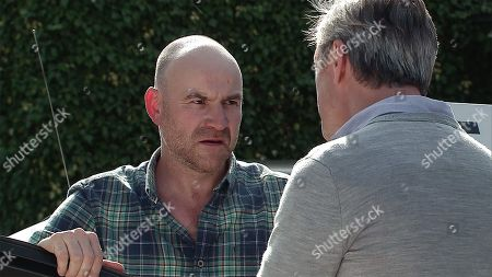 Ep 9534 Wednesday 15th August 2018 - 1st Ep Sally Metcalfe, and Tim Metcalfe, as played by Joe Duttine, decide to stake out Duncan's house to speak to his daughter but Duncan, as played by Nicholas Gleaves, approaches the car and starts goading Tim.