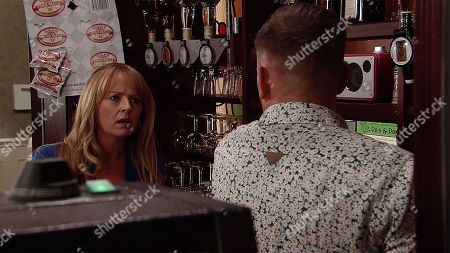 Ep 9533 Monday 13th August 2018 - 2nd Ep Checking the coast is clear, Sean Tully, as played by Antony Cotton, helps himself to a vodka behind the bar, intending to take it out to Frank. However Jenny Connor, as played by Sally Ann Matthews, catches him red handed. When Sean fails to offer a decent explanation, Jenny and Johnny tell him they've no alternative but to fire him. Sean's devastated.