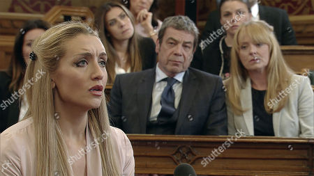 Ep 9524 Friday 3rd August 2018 - 1st Ep Johnny Connor, as played by Richard Hawley, is bereft thinking he may never see his granddaughter again after finding out about Eva's departure, with Carla Connor, as played by Alison King, Jenny Bradley, as played by Sally Ann Matthews, Eva Price, as played by Catherine Tyldesley, and Michelle Connor, as played by Kym Marsh