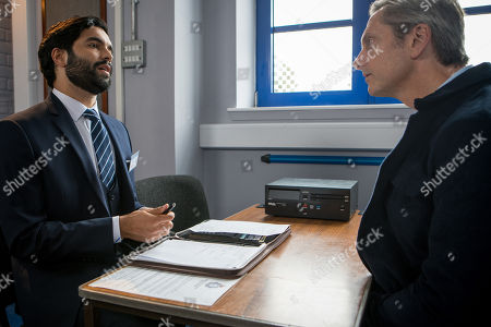 Ep 9530 Friday 10th August 2018 - 1st Ep Imran Habeeb, as played by Charlie De Melo, calls at the police station to meet his new client Duncan, as played by Nicholas Gleaves. Duncan explains that he's been charged with fraud for stealing charity funds but that he was coerced into it by Sally Metcalfe. Imran's shocked.