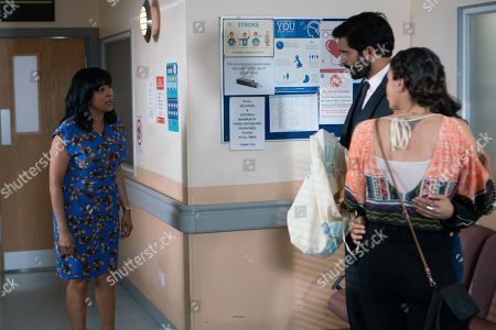 Ep 9528 Wednesday 8th August 2018 - 2nd Ep At the hospital, Imran Habeeb, as played by Charlie De Melo, breaks the news to Rana Habeeb, as played by Bhavna Limbachia, that Hassan has had a stroke, but Saira Hebeeb, as played by Kim Vithana, bans her from visiting him and Rana's devastated.