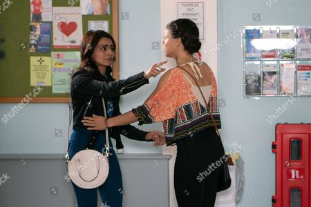 Ep 9528 Wednesday 8th August 2018 - 2nd Ep At the hospital, Imran Habeeb, breaks the news to Rana Habeeb, as played by Bhavna Limbachia, that Hassan has had a stroke, but Saira Hebeeb, as played by Kim Vithana, bans her from visiting him and Rana's devastated.