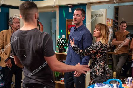 Ep 8233 Thursday 16th August 2018 - 2nd Ep Ross Barton, as played by Michael Parr, has organised a party and Pete Barton, as played by Anthony Quinlan, is concerned about drug fueled Ross. How will Ross react when he hears about Megan and Frank? With Rhona Goskirk, as played by Zoe Henry, Rodney Blackstock, as played by Patrick Mower.
