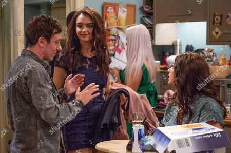 Stock Picture of Ep 8233 Thursday 16th August 2018 - 2nd Ep Victoria Barton, as played by Isobel Hodgins, gets jealous at Ross's party when she sees Abby, as played by Alyssia Jarvis, making eyes at Matty Barton, as played by Ash Palmisciano.