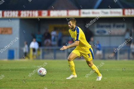 AFC Wimbledon Defender, Jonathan Meades (3) during the Pre-Season Friendly match between Havant & Waterlooville FC and AFC Wimbledon at Westleigh Park, Havant . Picture by Adam Rivers