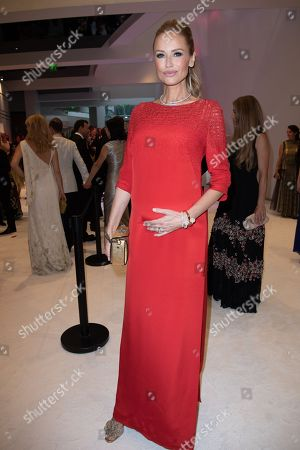 Adriana Karembeu attends the 70th annual Red Cross Gala at the sporting club in Monte-Carlo, July 27, 2018.
