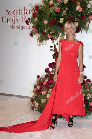 Rebecca Hampton attends the 70th annual Red Cross Gala at the sporting club in Monte-Carlo, July 27, 2018.