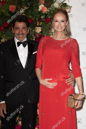 Adriana Karembeu and her husband Aram Ohanian attend the 70th annual Red Cross Gala at the sporting club in Monte-Carlo, July 27, 2018.