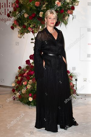 Maitena Biraben attends the 70th annual Red Cross Gala at the sporting club in Monte-Carlo, July 27, 2018.