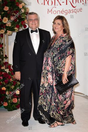Lawyer, Thierry Herzog and his wife attend the 70th annual Red Cross Gala at the sporting club in Monte-Carlo, July 27, 2018.