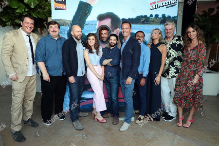 John Orlando, SVP of Programming and Development, Crackle, Billy Merritt, Paul Scheer, Noel Wells, Rob Riggle, Samm Levine, Eric Berger, General Manager, Crackle, and Chief Digital Officer, Sony Pictures Television Networks, Rizwan Manji, Eliza Coupe, Christopher McDonald and Britt Baron