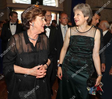 Helga Rabl-Stadler and British Prime Minister Theresa May