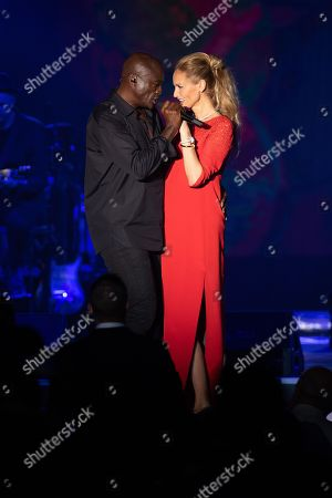 Seal and Adriana Karembeu